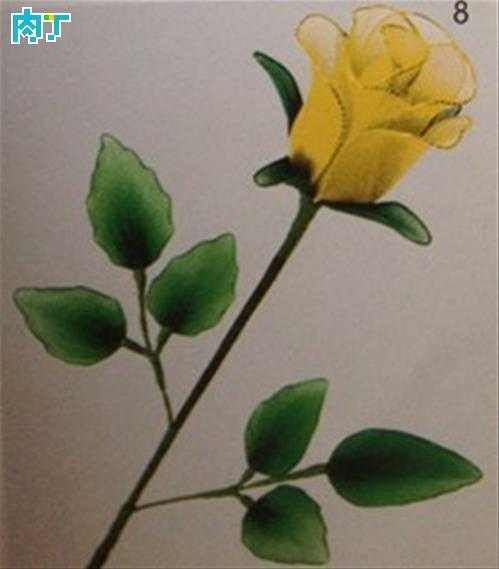丝网花玫瑰花的制作 酒杯玫瑰丝网花制作图解教程