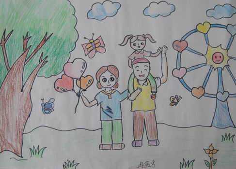 画一天的生活图片 儿童画我的爸爸图片