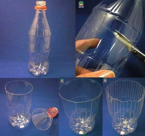 饮料瓶,可乐瓶,雪碧瓶子做的卡通花盆