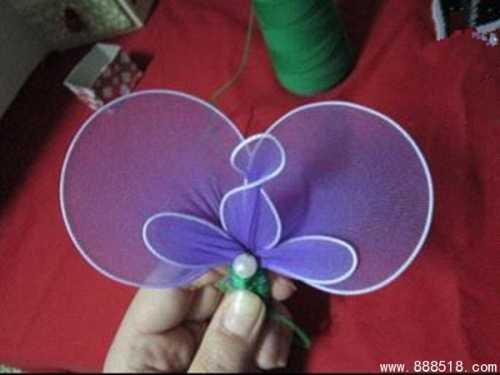 兰花丝网花 非常漂亮的丝网花制作教程
