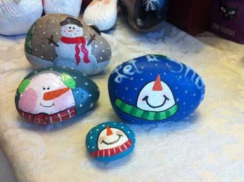 雪天的石头——最适合冬天的环创 冬天的宝石