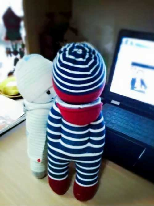 手工作品 袜子娃娃