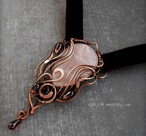 极致手工艺之金属丝绕线首饰作品 绕线项链教程