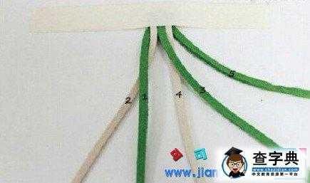 五股皮绳手链的编法 皮绳手链编法