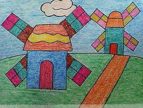 幼儿园小朋友绘画作品图片精选 幼儿园画小朋友图片