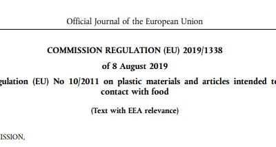 欧盟修订有关食品接触塑料材料和物品的法规 与新闻有关的法规