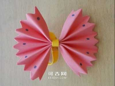最简单折纸漂亮蝴蝶结的折法 折出漂亮的蝴蝶结