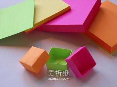 怎么用便签纸折纸小盒子的折法图解教程 纸盒子的折法
