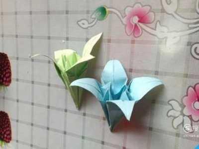 百合花的折法 折纸花百合