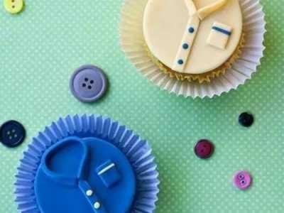 用超轻粘土DIY制作父亲节礼物衬衫蛋糕怎么做 软陶哆啦a梦