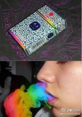 彩色烟雾的香烟哪里有卖的 烟雾是彩色的香烟