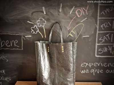 自制皮革手提袋的教程 皮革袋