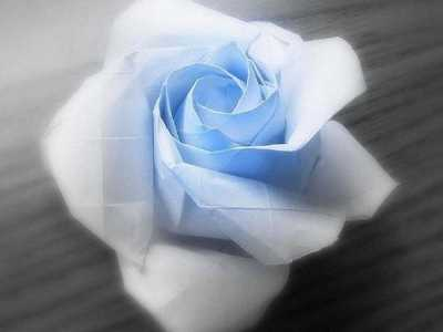 一款超复杂的玫瑰花折纸图解 纸玫瑰花的折法