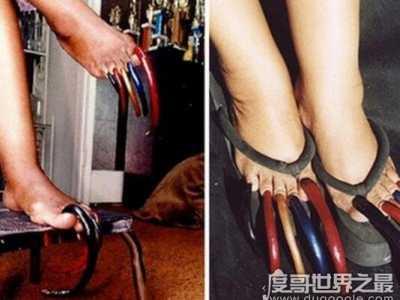 最长脚趾甲长达12.7厘米 最长脚指甲